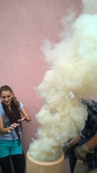 Die Rauchentwicklung ist enorm!