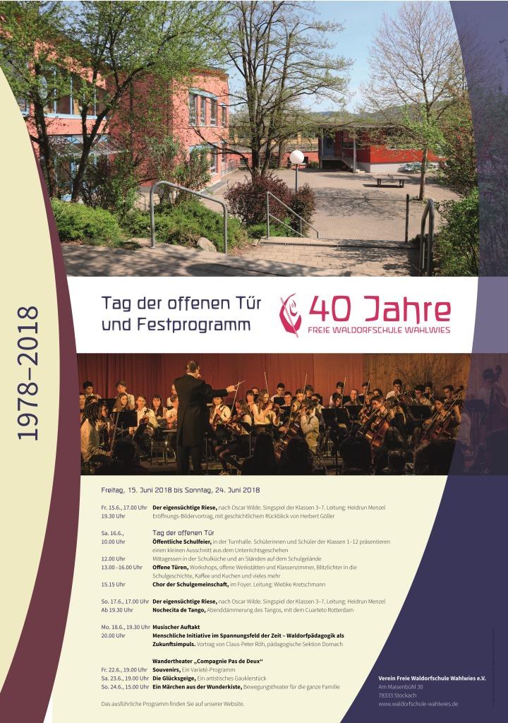 40 Jahre Freie Waldorfschule Wahlwies | Freie Waldorfschule Wahlwies
